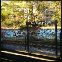 Photo taken at Brookland-CUA Metro Station by LaLa S. on 11/9/2012