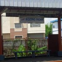 Photo taken at Stasiun KRL Bojong Indah by Felix K. on 1/16/2015