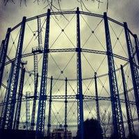 Photo taken at Sydenham Holder Station (Bell Green Gasholder) by Sarah O. on 3/2/2014
