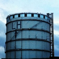 Photo taken at Southall Gas Holder by Sarah O. on 2/8/2014