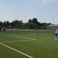 Photo taken at Voetbalveld Daverlo by Dries D. on 6/28/2018