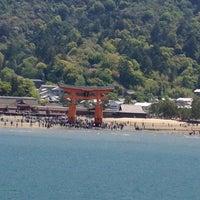 Photo taken at Miyajima Pier by akio h. on 5/5/2013