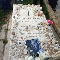 Photo taken at Oscar Schindler's Grave by Johnny H. on 2/12/2013