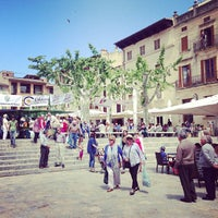 Photo taken at Plaça Major by Polina P. on 5/5/2013