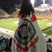 Photo taken at Estádio Municipal Paulo Machado de Carvalho (Pacaembu) by Virgínia P. on 9/25/2013
