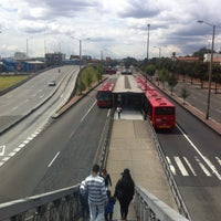 Photo taken at TransMilenio: Escuela Militar by Danny Daniel S. on 10/25/2015