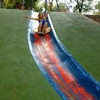Photo taken at Frick Park Blue Slide Playground by Rachel B. on 9/14/2012