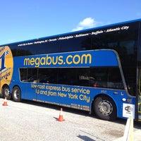 Photo taken at Megabus Bus Stop - South Side White Marsh Mall by Michaela C. on 9/21/2012