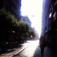 Photo taken at Calle Castillo by Myriam A. on 9/14/2012