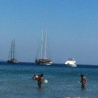 Photo taken at Parıltı Beach by Kubra Y. on 7/30/2014