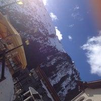 Photo taken at Yellow Tent Open Air Après Ski Bar by Pauline D. on 2/14/2015