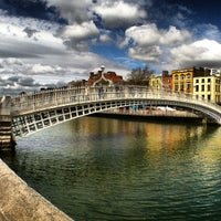 Photo taken at The Ha'penny (Liffey) Bridge by JauntingJenny K. on 5/24/2013