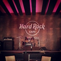 Photo taken at Hard Rock Cafe Santiago by Renato D. on 10/8/2013