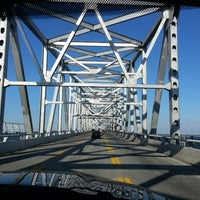 Photo taken at Chesapeake Bay Bridge by Michael P. on 3/4/2013