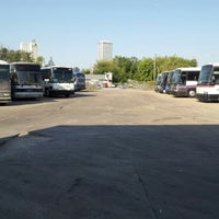 Photo taken at Pacesetter Charters/Greyhound Lot Tulsa, Oklahoma by Greyhound D. on 10/4/2012