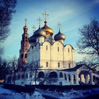 Photo taken at Novodevichy Convent by Eric on 2/22/2013