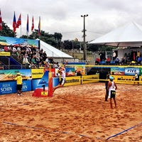 Photo taken at FIVB Beach Volleyball World Cup Final by Christian M. on 5/30/2013