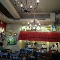 Photo taken at Backpackers cafe, Elante by Harjeet G. on 4/14/2013