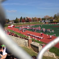 Photo taken at Edwards-Maurer Field & Earl F. Morris Track by Libby G. on 10/25/2014