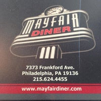 Photo taken at Mayfair Diner by Dan T. on 3/31/2013
