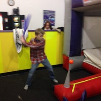 Photo taken at Bounce U by Michelle W. on 12/8/2013