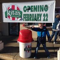 Photo taken at Rita's by Karen C. on 2/22/2014