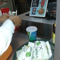 Photo taken at Subway Outlet Del Bosque by Jiliar C. on 11/14/2013