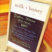 Photo taken at milk + honey day spa by Lisa M. on 10/16/2012