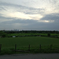 Photo taken at 羽根倉橋 by Arahata H. on 6/30/2013