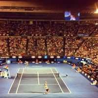 Photo taken at Rod Laver Arena by Ciarán N. on 1/23/2013