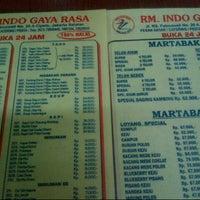 Photo taken at RM. Indo Gaya Rasa by Ruffie D. on 7/29/2013