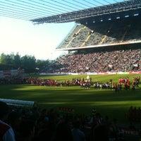 Photo taken at Estádio Municipal de Braga by Sofia V. on 5/11/2013