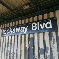Photo taken at MTA Subway - Rockaway Blvd (A) by Rob  😘😘 C. on 1/27/2013