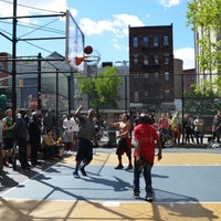 Photo taken at West 4th Street Courts (The Cage) by Tiny N. on 4/9/2018