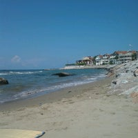 Photo taken at Cebeci Beach by Oscar F. on 7/25/2014