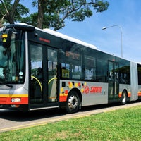 Photo taken at SMRT Buses: Bus 858 by 9VSKA on 11/29/2015