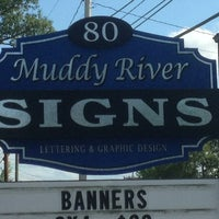 Photo taken at Muddy River Signs by Steve G. on 8/11/2013