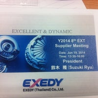 Photo taken at Exedy (Thailand) Co.,Ltd. by Apple on 6/19/2014