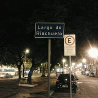 Photo taken at Largo do Riachuelo by Thassya A. on 12/15/2012