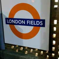 Photo taken at London Fields Overground Station (LOF) by Zühre A. on 10/13/2016