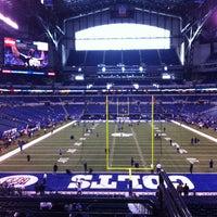 Photo taken at Lucas Oil Stadium by Clayton B. on 12/30/2012