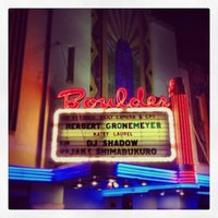 Photo taken at Boulder Theater by DJ C. on 9/26/2013