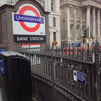 Photo taken at Bank London Underground and DLR Station by Lee H. on 9/14/2013