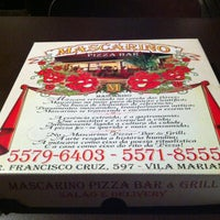 Photo taken at Mascarino Pizza Bar by Bruno Flavio E. on 9/8/2013