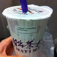 Photo taken at Chatime 日出茶太 by Michelle L. on 12/16/2012