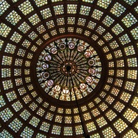 Photo taken at Tiffany Dome At The Chicago Cultural Center by Ruby J. on 7/20/2014