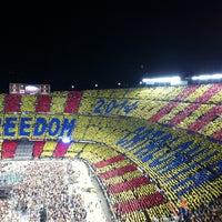 Photo taken at Camp Nou by David G. on 6/29/2013