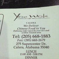 Photo taken at Yoe Wok cafe by Angela J. on 2/16/2013