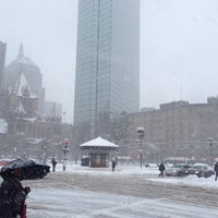 Photo taken at Copley Square by William B. on 3/8/2013