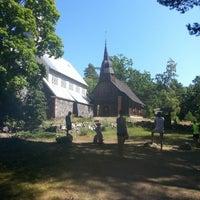 Photo taken at Ruhnu Püha Magdaleena kirik by Kristaps M. on 7/19/2014